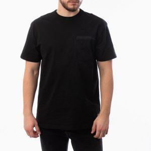 חולצת T קארהארט לגברים Carhartt WIP S/S Military Mesh Pocket - שחור