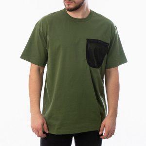 חולצת T קארהארט לגברים Carhartt WIP S/S Military Mesh Pocket - ירוק