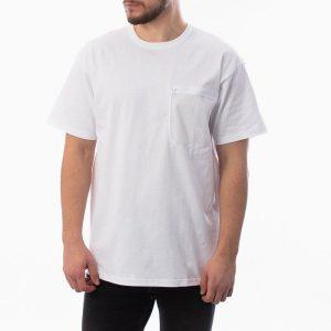 חולצת T קארהארט לגברים Carhartt WIP S/S Military Mesh Pocket - לבן