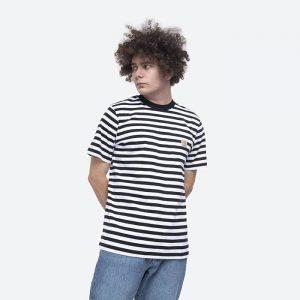 חולצת T קארהארט לגברים Carhartt WIP S/S Scotty Pocket - שחור/לבן