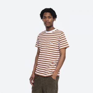 חולצת T קארהארט לגברים Carhartt WIP S/S Scotty Pocket - לבן הדפס