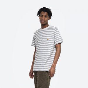 חולצת T קארהארט לגברים Carhartt WIP S/S Scotty Pocket - לבן