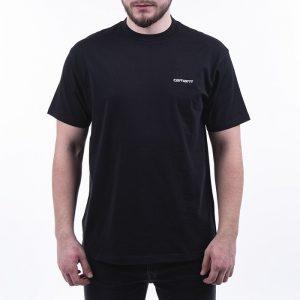 חולצת T קארהארט לגברים Carhartt WIP S/S Script Embroidery - שחור