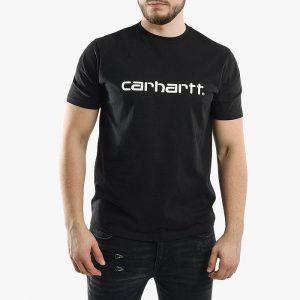 חולצת T קארהארט לגברים Carhartt WIP Script - שחור