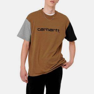 חולצת T קארהארט לגברים Carhartt WIP Tricol - חום