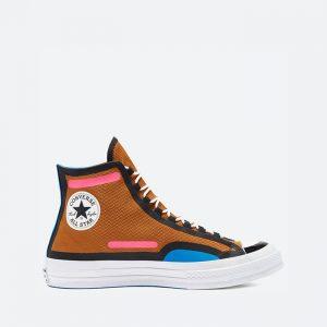 נעלי סניקרס קונברס לגברים Converse Chuck 70 Hi Digital Terrain - חום