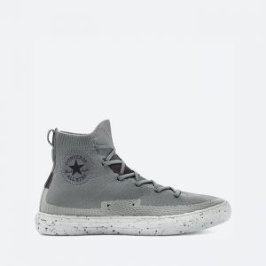 נעלי סניקרס קונברס לגברים Converse Chuck Taylor All Star Crater Knite Hi Renew Crater Vegan - אפור כהה