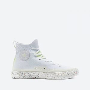 נעלי סניקרס קונברס לגברים Converse Chuck Taylor All Star Crater Knite Hi Renew Crater Vegan - לבן