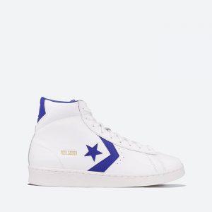 נעלי סניקרס קונברס לגברים Converse PRO LEATHER HIGH - לבן