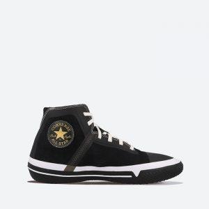 נעלי סניקרס קונברס לגברים Converse PRO LEATHER HIGH - שחור