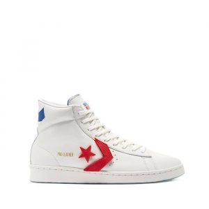 נעלי סניקרס קונברס לגברים Converse Pro Leather Hi Birth of Flight - לבן  כחול  אדום