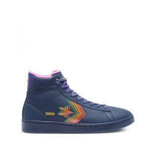 נעלי סניקרס קונברס לגברים Converse Pro Leather Hi Heart Of The City - כחול