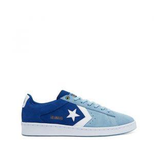 נעלי סניקרס קונברס לגברים Converse Pro Leather OX Heart Of The City - כחול