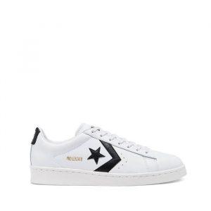 נעלי סניקרס קונברס לגברים Converse Pro Leather - לבן/שחור