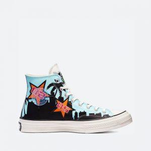 נעלי סניקרס קונברס לגברים Converse x Chinatown Market x NBA Chuck 70 Lakers Championship Jacket - צבעוני כהה