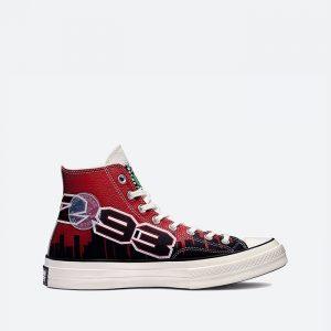 נעלי סניקרס קונברס לגברים Converse x Chinatown Market x NBA Chuck 70 - שחור/אדום