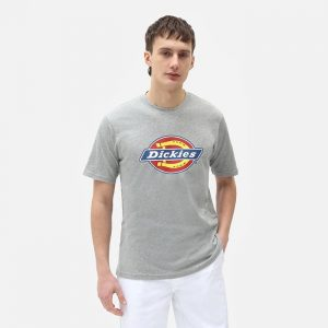 חולצת T Dickies לגברים Dickies Icon Logo Tee - אפור בהיר