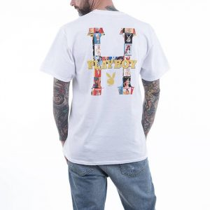 חולצת T HUF לגברים HUF x Playboy Classic H S/S - לבן