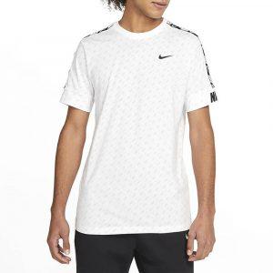 חולצת אימון נייק לגברים Nike Sportswear Repeat Print - לבן