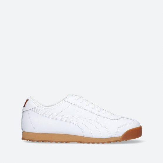 נעלי סניקרס פומה לגברים PUMA ROMA KITSUNE - לבן