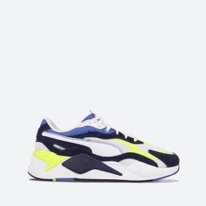 נעלי סניקרס פומה לגברים PUMA RS-X3 Twill AirMesh - צבעוני בהיר
