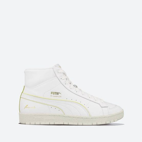 נעלי סניקרס פומה לגברים PUMA Ralph Sampson 70 Mid Rudolf Dassler Legacy Formstrip - לבן