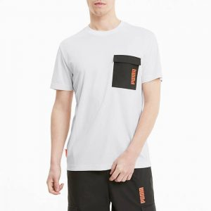חולצת T פומה לגברים PUMA x Central Saint Martins Jacquard Tee - לבן