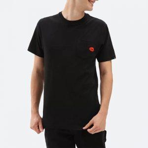 חולצת T ואנס לגברים Vans Anaheim Lips Pock - שחור