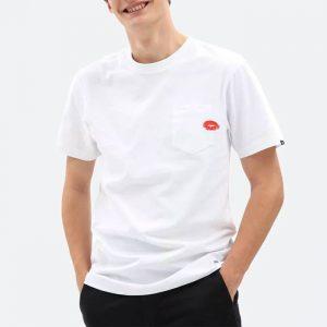 חולצת T ואנס לגברים Vans Anaheim Lips Pock - לבן