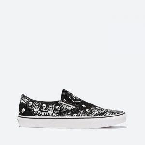 נעלי סניקרס ואנס לגברים Vans Classic Slip-On Bandana - שחור