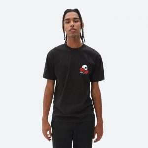 חולצת T ואנס לגברים Vans MN Rose Bed SS - שחור