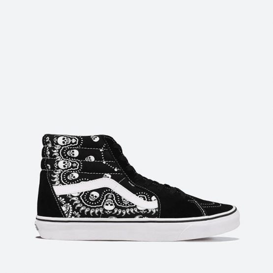 נעלי סניקרס ואנס לגברים Vans SK8-Hi Bandana - שחור
