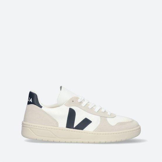 נעלי סניקרס ווג'ה לגברים Veja V-10 B-Mesh - לבן/ כחול