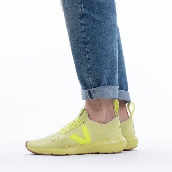 נעלי סניקרס ווג'ה לגברים Veja x Rick Owens Low Sock - צהוב