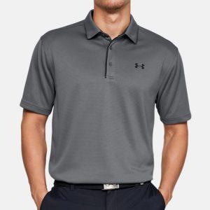 חולצת פולו אנדר ארמור לגברים Under Armour Tech Polo - אפור