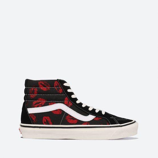 נעלי סניקרס ואנס לגברים Vans Anaheim Lips SK8-Hi 38 DX - שחור