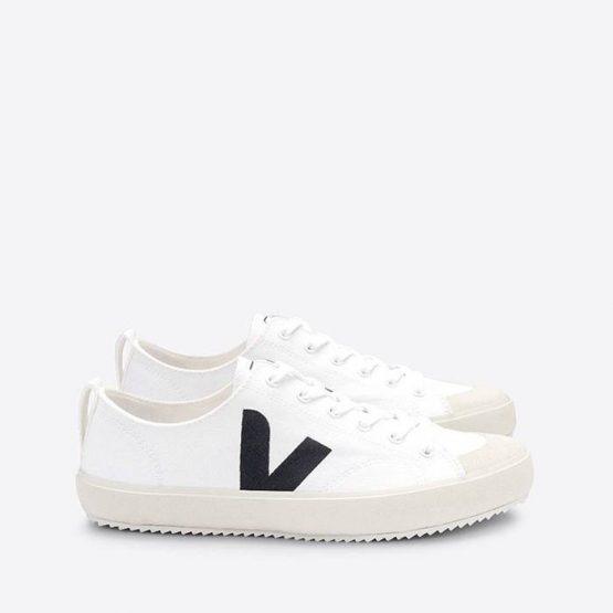 נעלי סניקרס ווג'ה לגברים Veja Nova Canvas - לבן/שחור