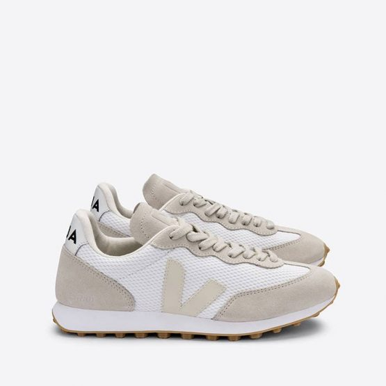 נעלי סניקרס ווג'ה לגברים Veja Rio Branco Alveomesh - לבן/אפור