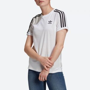 חולצת T אדידס לנשים Adidas Originals Adicolor Classics 3-Stripes Tee - לבן
