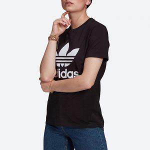 חולצת T אדידס לנשים Adidas Originals Adicolor Classics Trefoil Tee - שחור