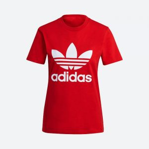 חולצת T אדידס לנשים Adidas Originals Adicolor Classics Trefoil Tee - אדום