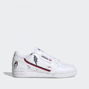 נעלי סניקרס אדידס לנשים Adidas Originals Continental 80 - לבן הדפס