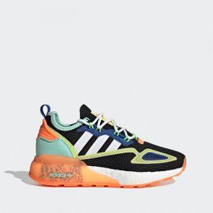 נעלי סניקרס אדידס לנשים Adidas Originals ZX 2K Boost - צבעוני/שחור