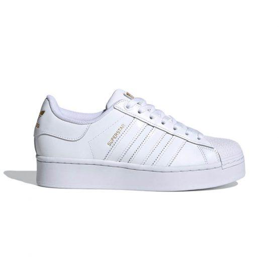 נעלי סניקרס אדידס לנשים Adidas Superstar Bold - לבן מלא