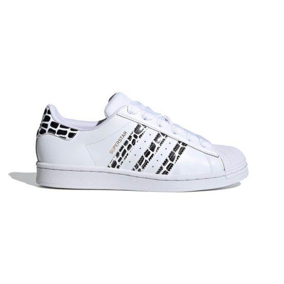 נעלי סניקרס אדידס לנשים Adidas Originals Superstar - שחור הדפס
