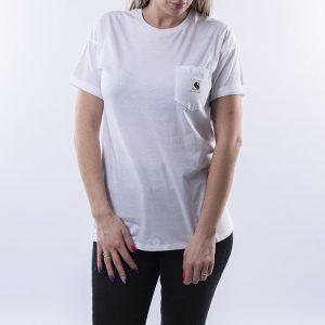 חולצת T קארהארט לנשים Carhartt WIP Carrie Pocket - לבן