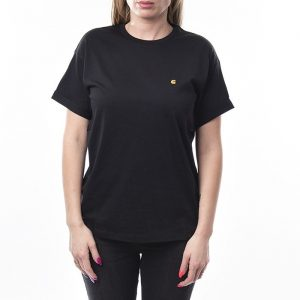 חולצת T קארהארט לנשים Carhartt WIP Chasy - שחור
