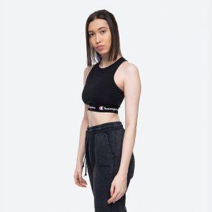 טופ וחולצת קרופ צ'מפיון לנשים Champion Bra - שחור מלא