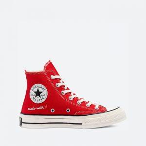 נעלי סניקרס קונברס לנשים Converse Chuck 70 Hi Valentines Day - אדום