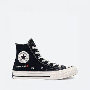 נעלי סניקרס קונברס לנשים Converse Chuck 70 Hi Valentines Day - שחור